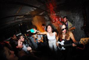 "alt=""AntiHana girl punk band Performing"""