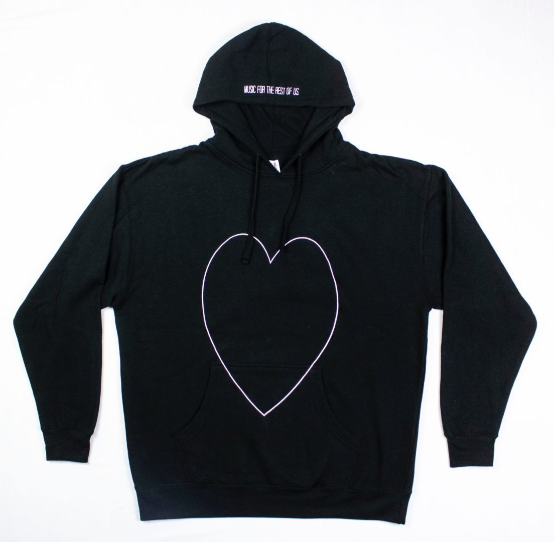 "alt=""Black K heart Kollection hoodie sweatshirt"""
