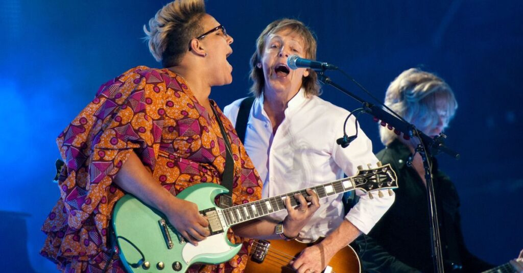 brittany howard and paul mccartney at lollapalooza