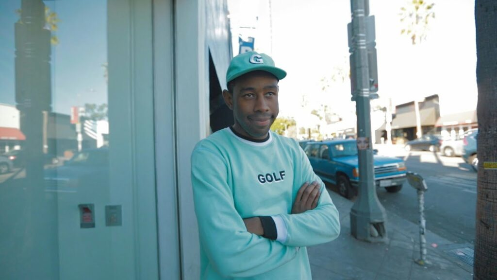 tyler the creator in golf attire