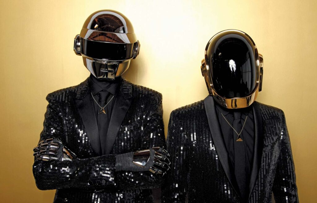 "Alt=""Daft Punk Duo in Helmets"""