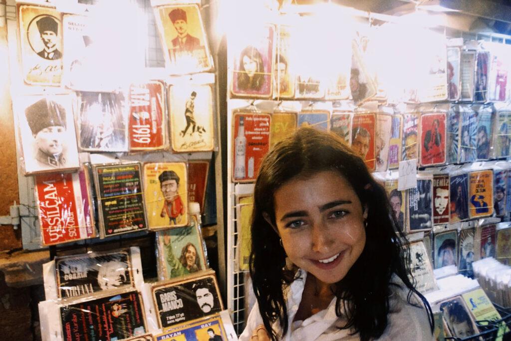 "Alt=""Film picture of girl in antique store"""