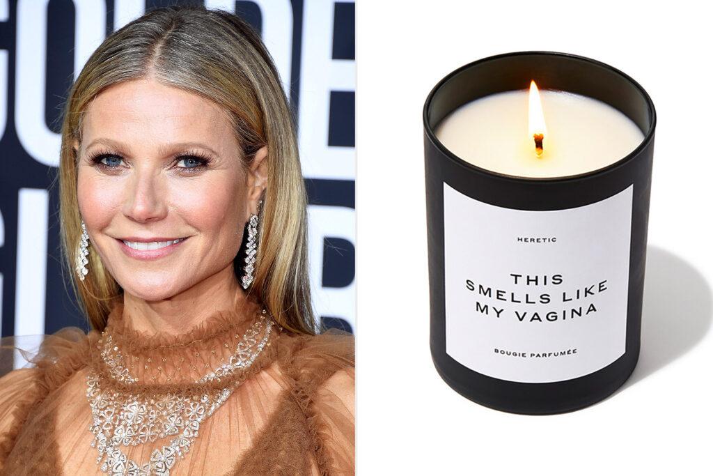 """Alt=""""Gwyneth Paltrow vagina candle"""""""